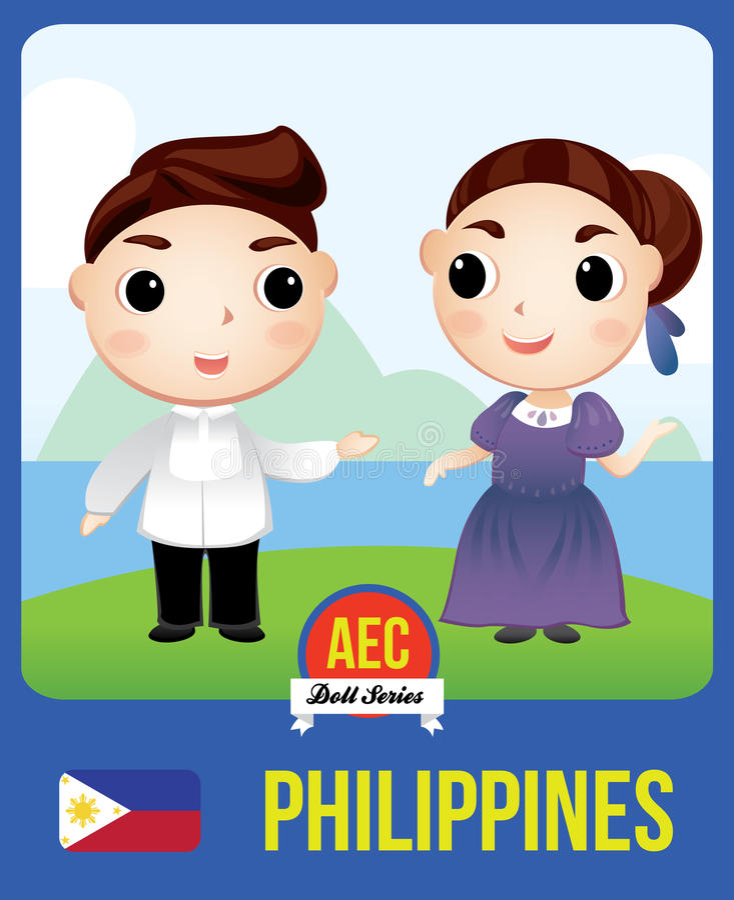 Boneca da CEA de Filipinas ilustração do vetor