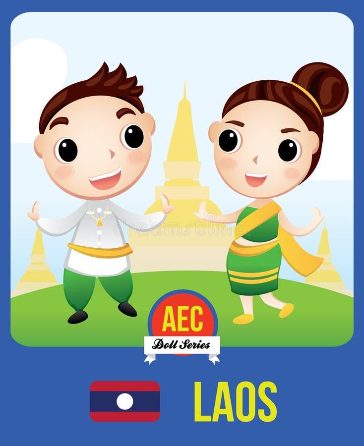 Boneca da CEA de Laos ilustração royalty free