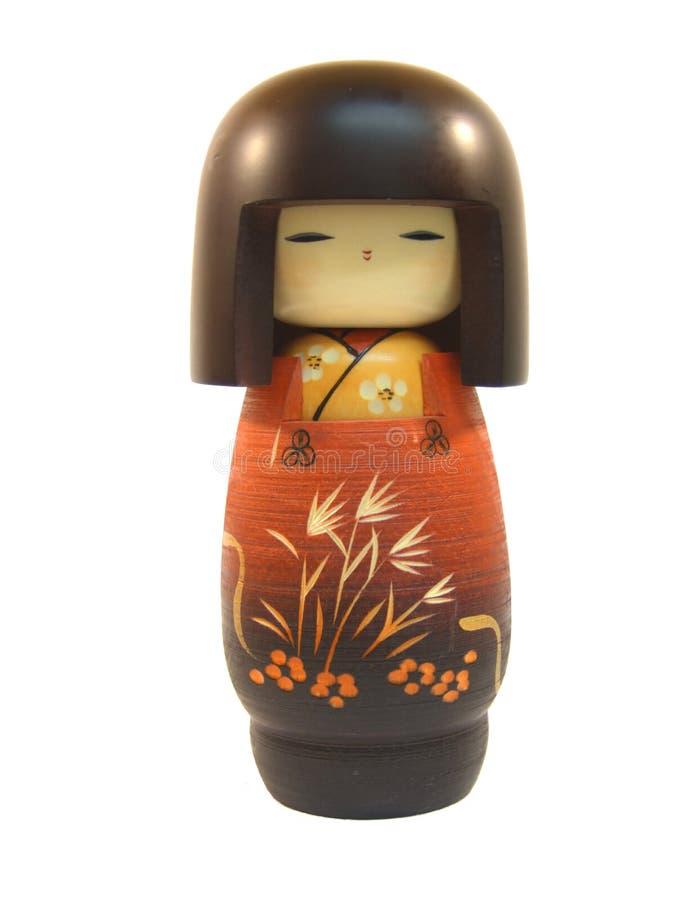 Boneca de madeira de Kokeshi fotos de stock