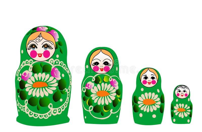 Boneca de Matryoshka dentro   ilustração stock