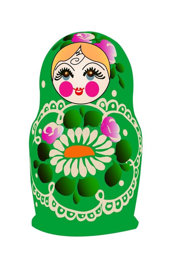 Boneca de Matryoshka no vetor, ilustração stock