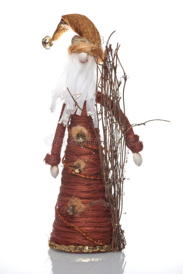 Boneca de Papai Noel fotografia de stock