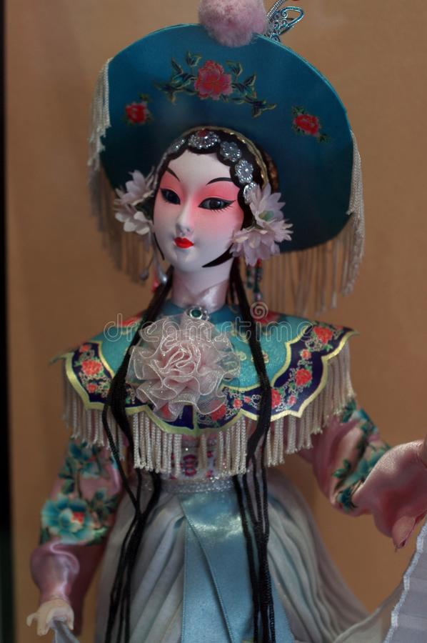 Boneca de Peking Opera fotografia de stock