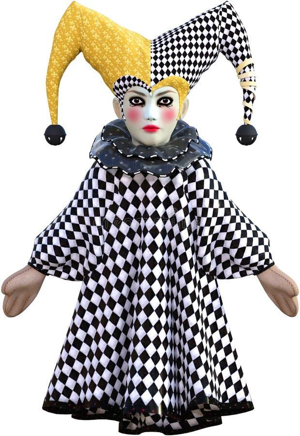 Boneca de Pupper da piada da porcelana isolada fotografia de stock royalty free