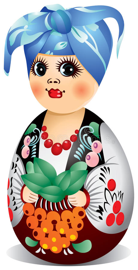 Boneca de Ucrânia Matryoshka ilustração stock