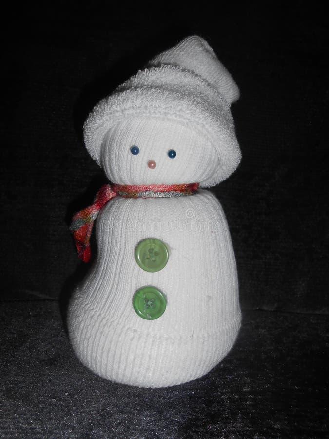 Boneca do boneco de neve imagem de stock