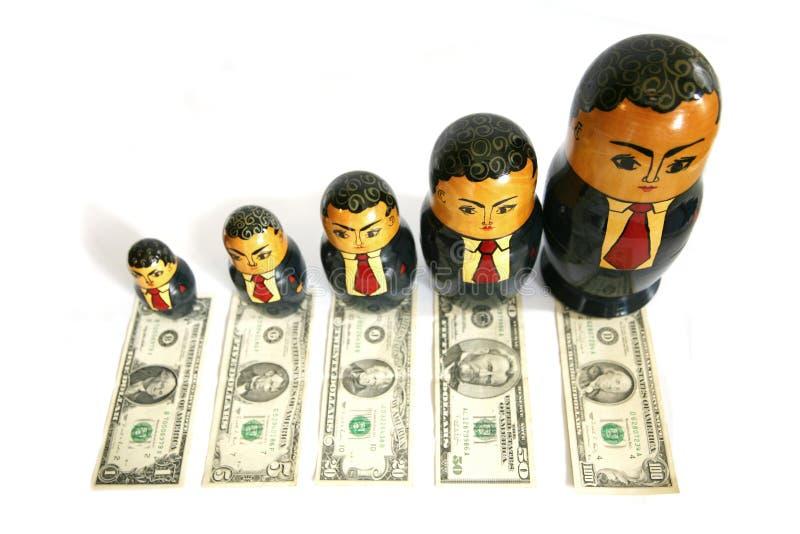 Boneca do russo do homem de negócios imagens de stock royalty free