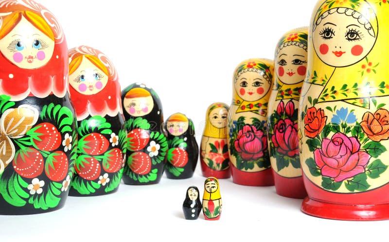 Boneca do russo no branco foto de stock royalty free