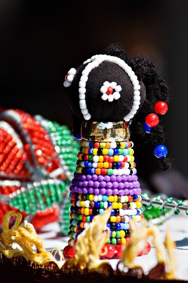 Boneca do tribo Zulu foto de stock royalty free