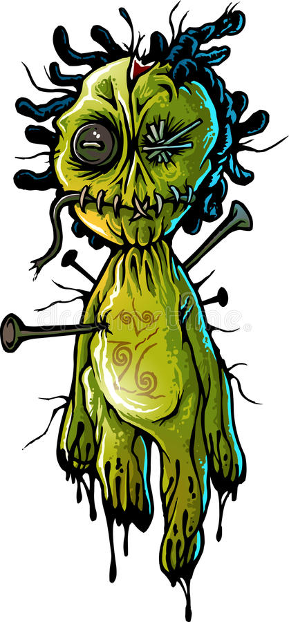 Boneca do Voodoo ilustração do vetor