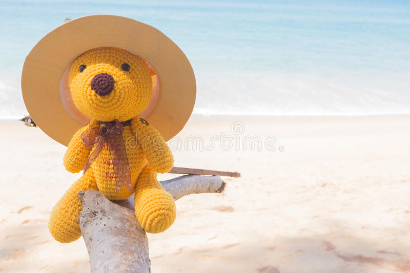 Download Boneca e mar do urso foto de stock. Imagem de imagem - 65580370