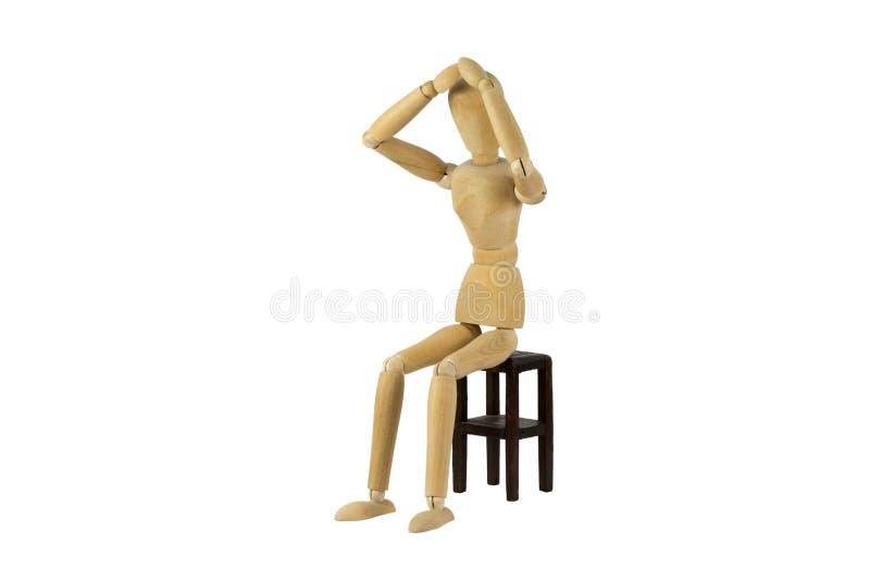 Boneca fêmea de madeira na ação imagens de stock