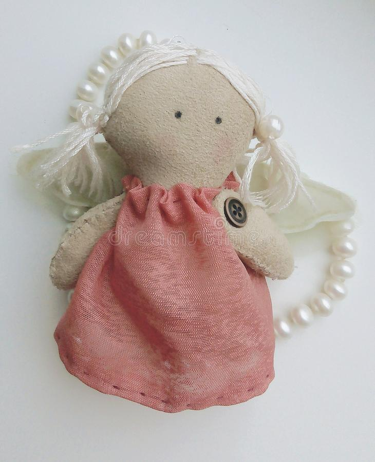 Boneca feito à mão fotografia de stock