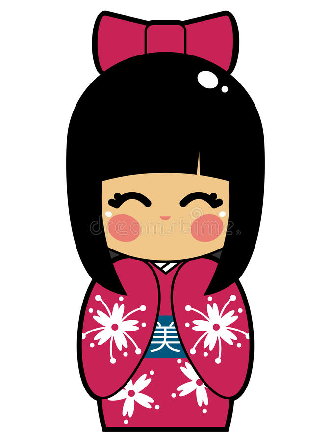 Boneca japonesa ilustração stock