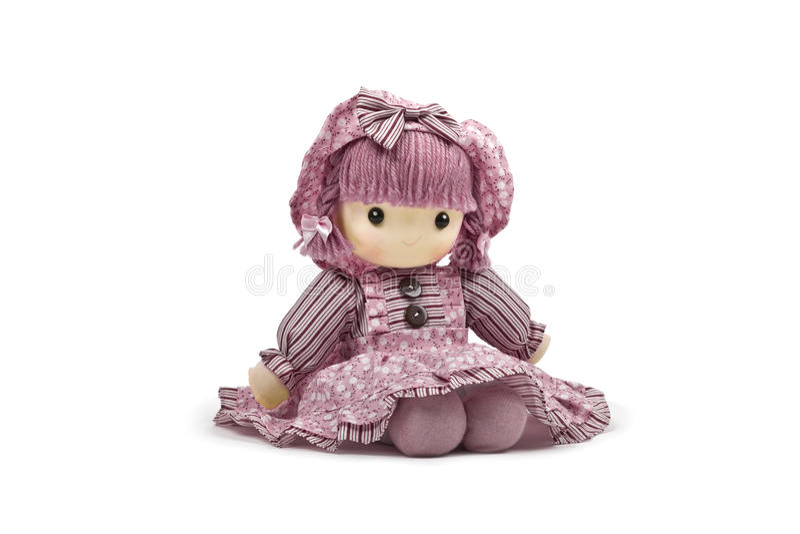 Boneca macia cor-de-rosa fotos de stock royalty free