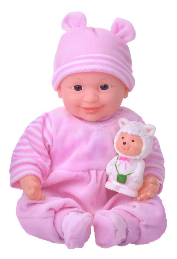Boneca no vestido cor-de-rosa imagens de stock