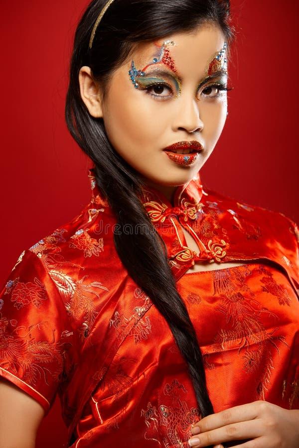 Boneca plástica asiática fotografia de stock