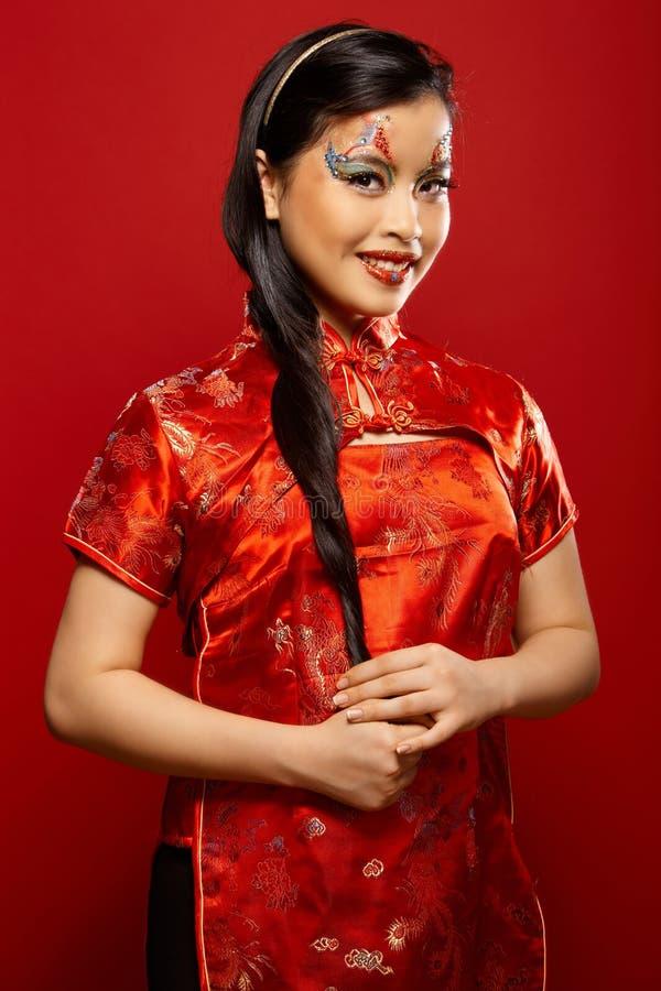 Boneca plástica asiática foto de stock