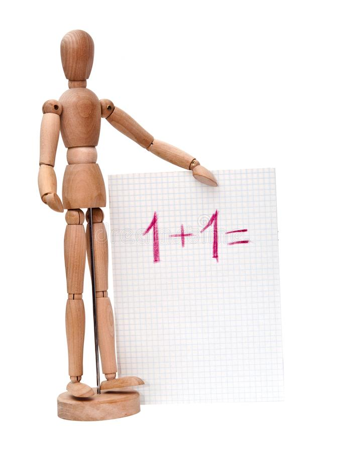 Boneca que ensina a matemática básica fotografia de stock royalty free