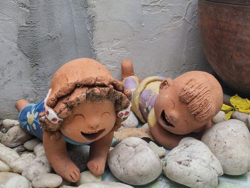 Bonecas cerâmicas fotos de stock royalty free