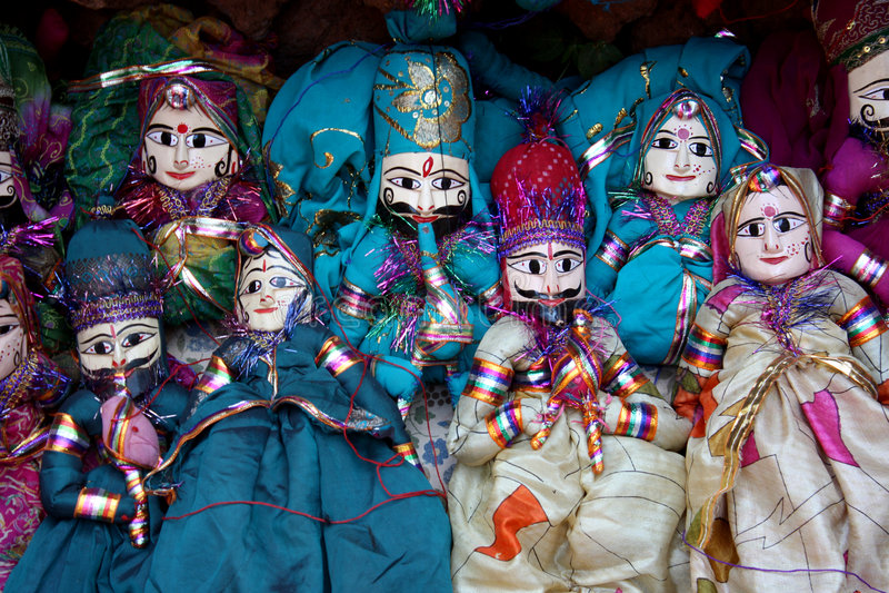 Bonecas coloridas do fantoche imagens de stock royalty free