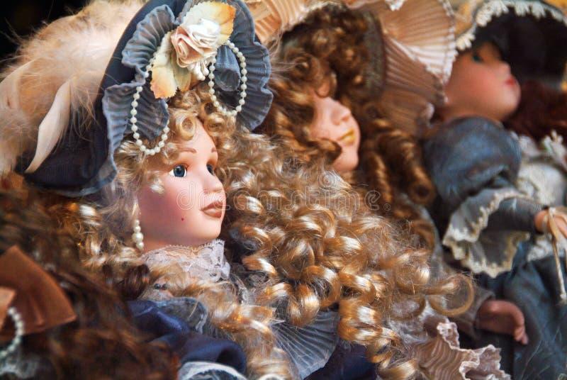 Bonecas da porcelana imagem de stock