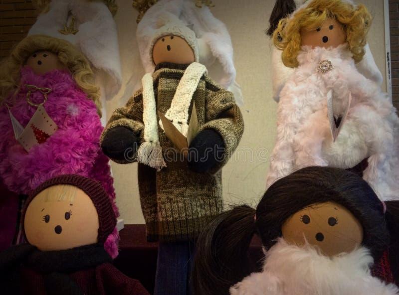 Bonecas de coro fotografia de stock