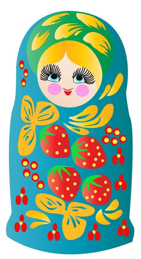 Bonecas de Matryoshka no vetor ilustração stock