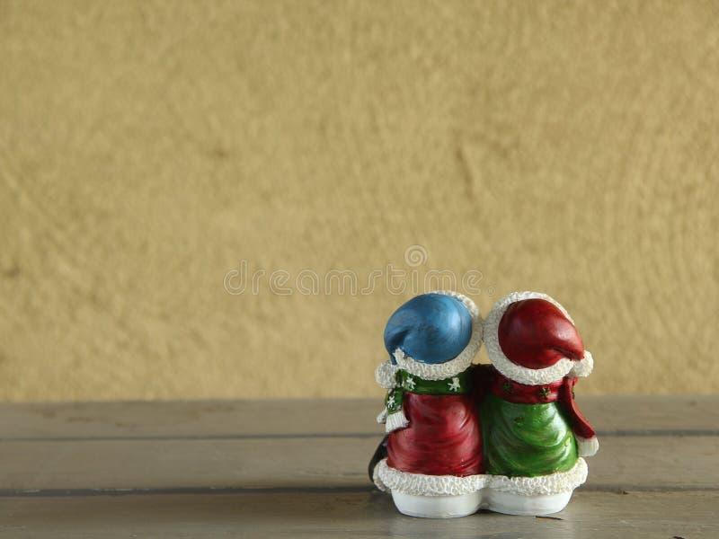 Bonecas do boneco de neve fotografia de stock royalty free