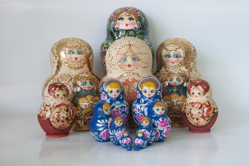 Bonecas do russo foto de stock royalty free