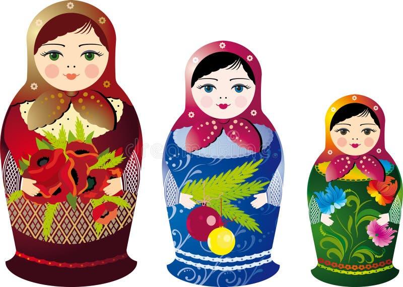 Bonecas do russo ilustração stock