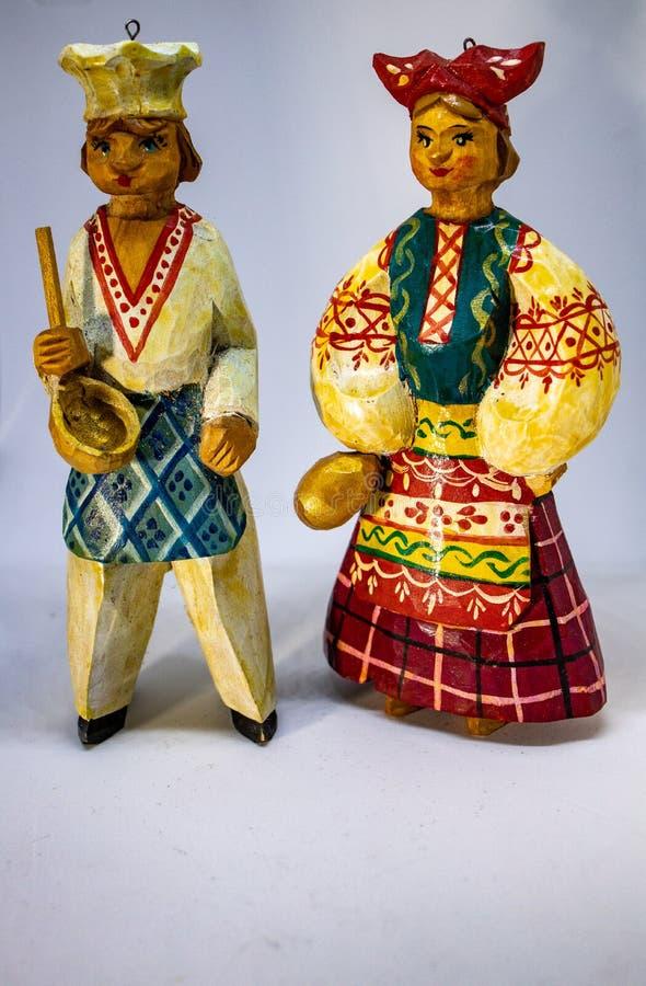 Bonecas do russo para a decoração dos chrismas foto de stock