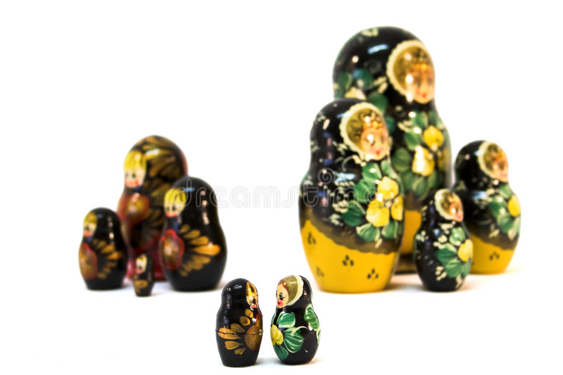 Bonecas do russo - Romeo e Juliet fotografia de stock royalty free