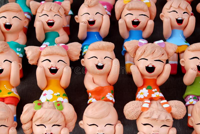 Bonecas engraçadas Handmade tailandesas foto de stock royalty free