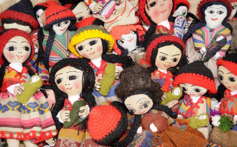 Bonecas peruanas fotografia de stock