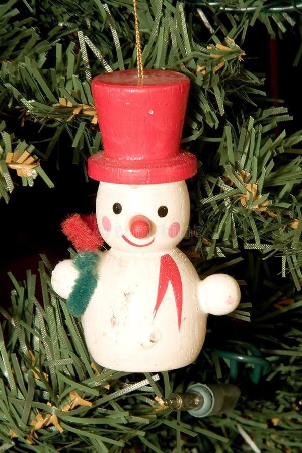 Boneco de neve & chapéu vermelho foto de stock royalty free