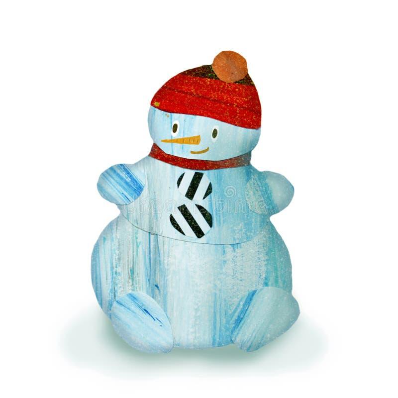 Boneco de neve azul da colagem ilustração royalty free