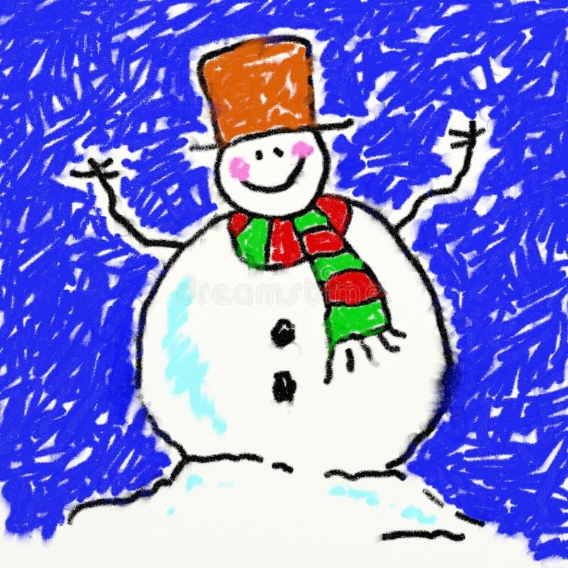 Boneco de neve de Childs ilustração royalty free
