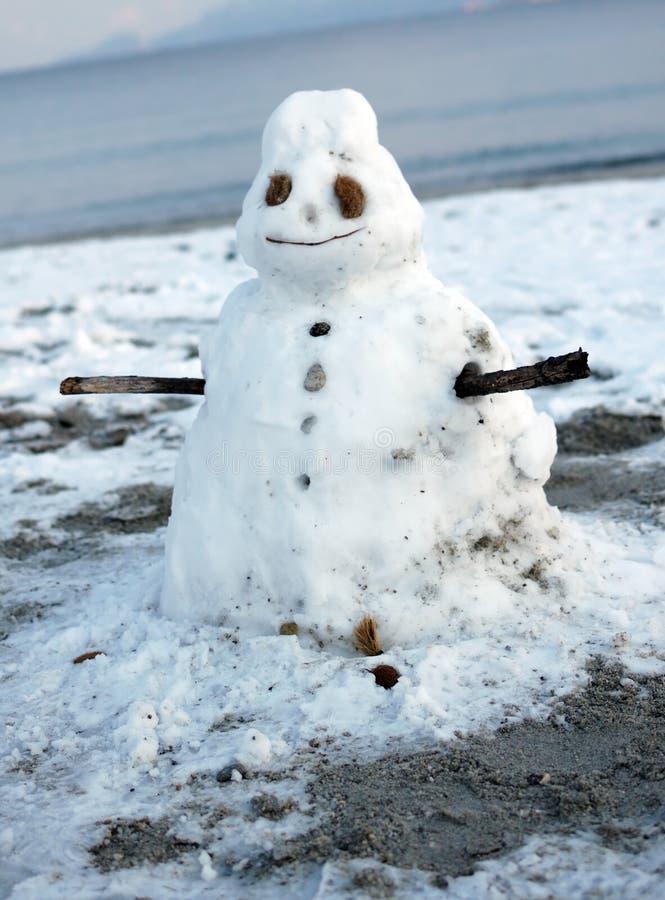 Boneco de neve de derretimento imagens de stock
