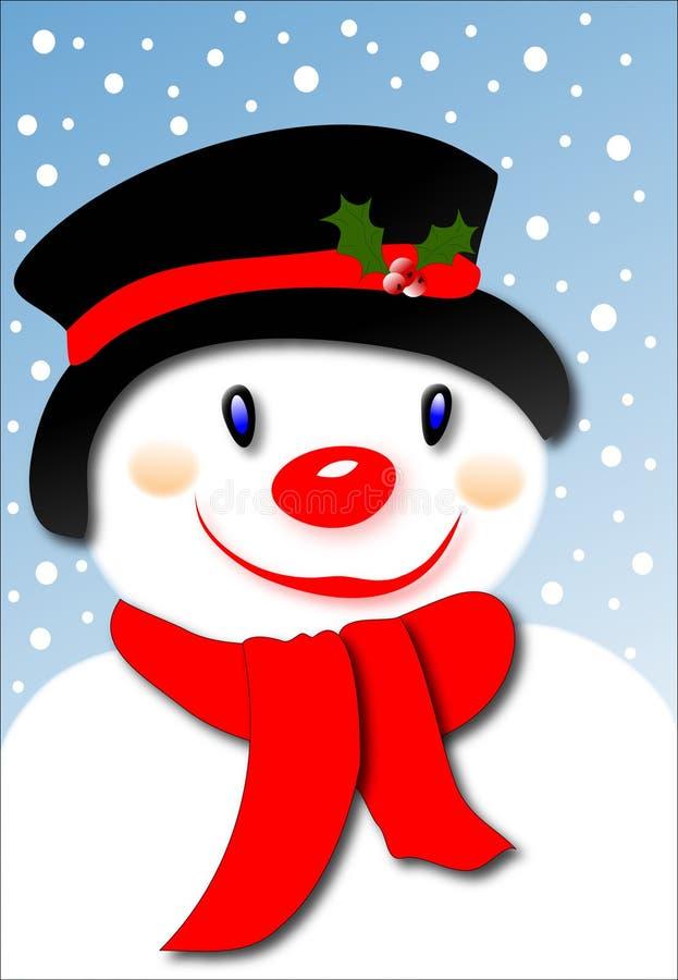 Boneco de neve de sorriso ilustração royalty free