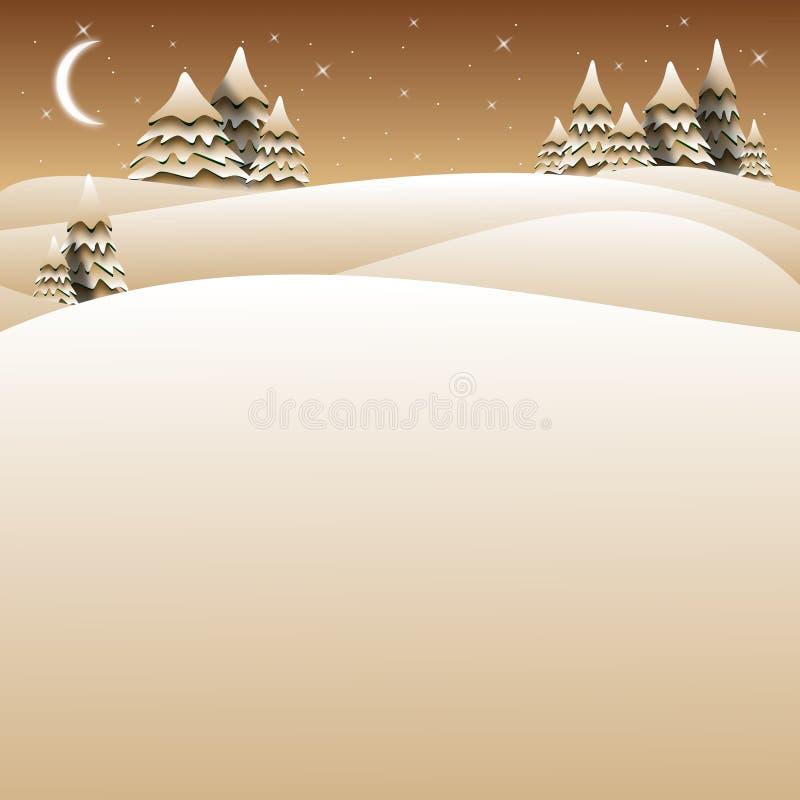 Boneco de neve do cartão de Natal ilustração stock