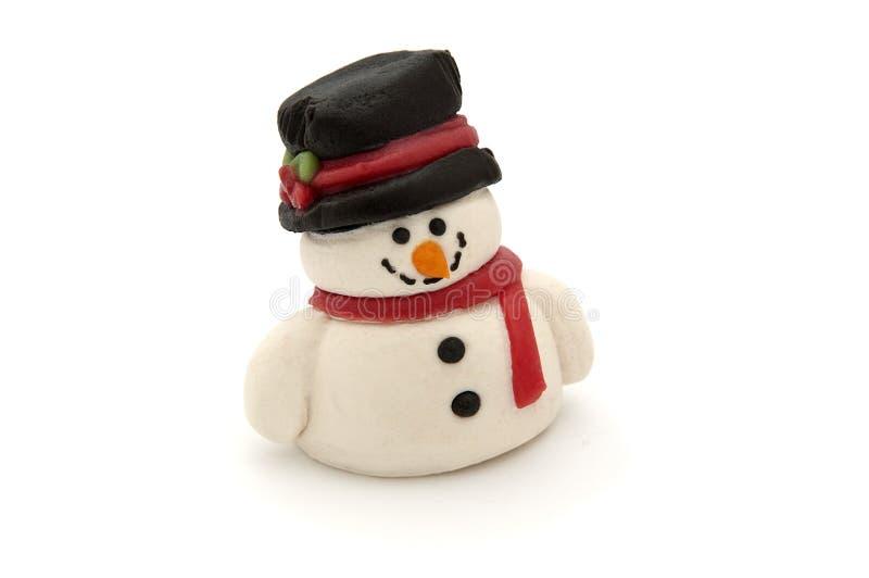 Boneco de neve do maçapão foto de stock