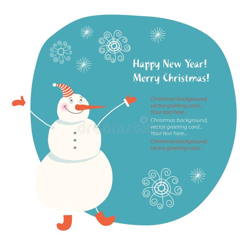 boneco de neve do Natal ilustração do vetor