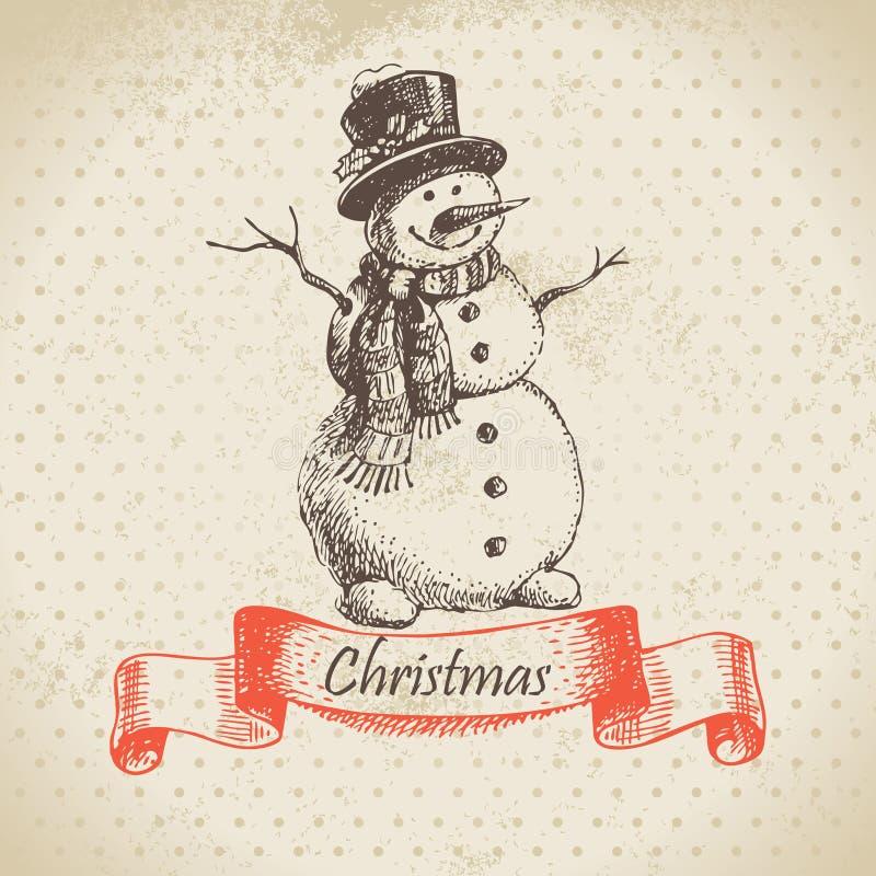 Boneco de neve do Natal ilustração stock