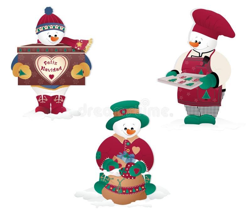 Boneco de neve do Natal fotos de stock