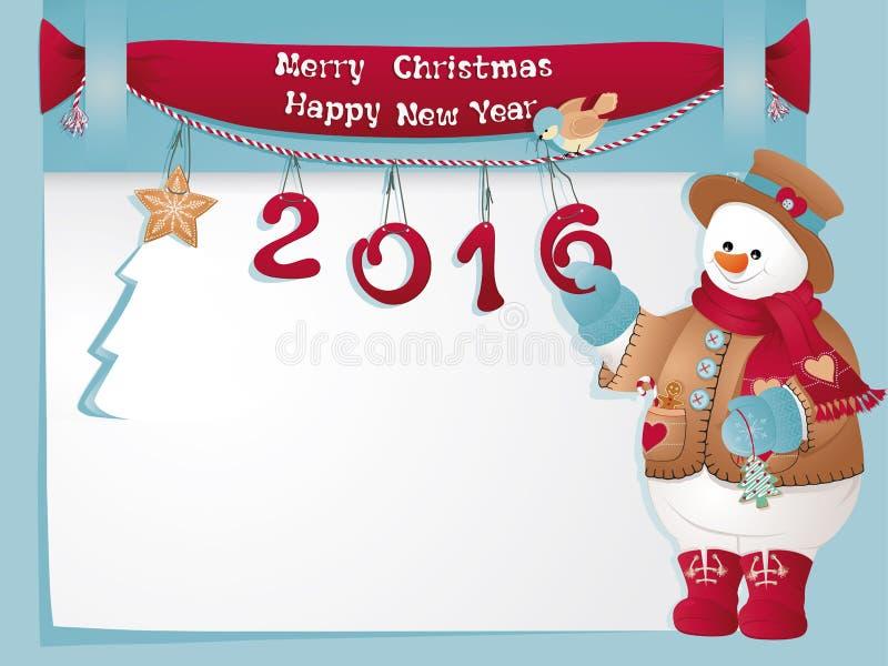 Boneco de neve do Natal imagem de stock