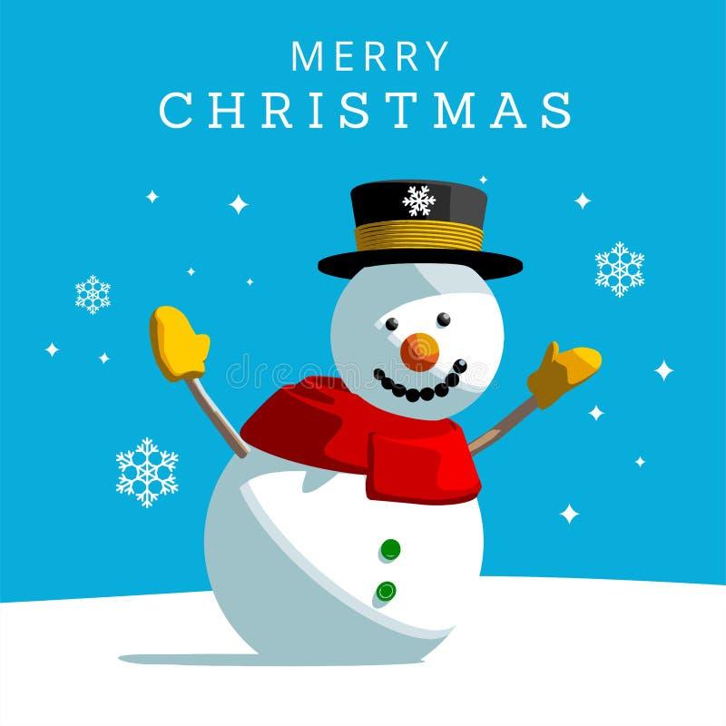 Boneco de neve do Natal ilustração royalty free