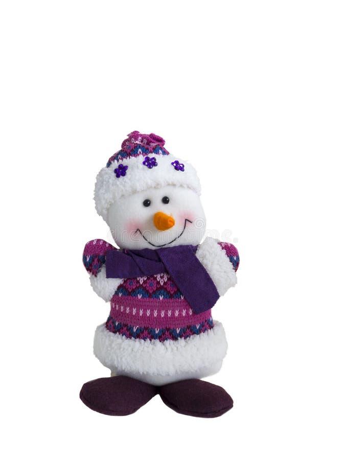 Boneco de neve feito do algodão foto de stock