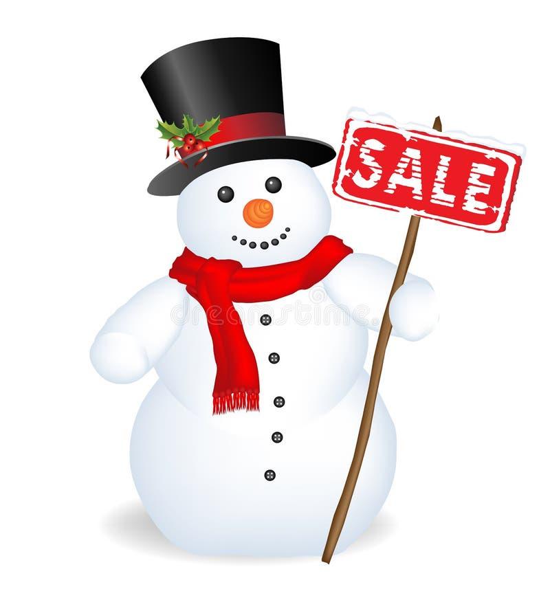 Boneco de neve feliz ilustração stock