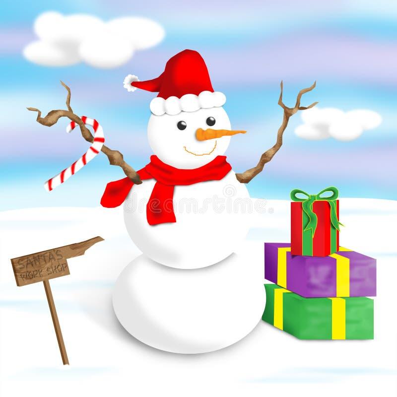 Boneco de neve feliz, alegre